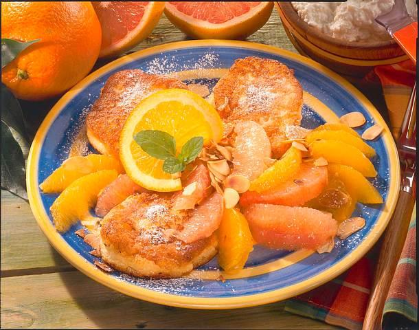 Quarkplätzchen mit Orangen und Grapefruits Rezept