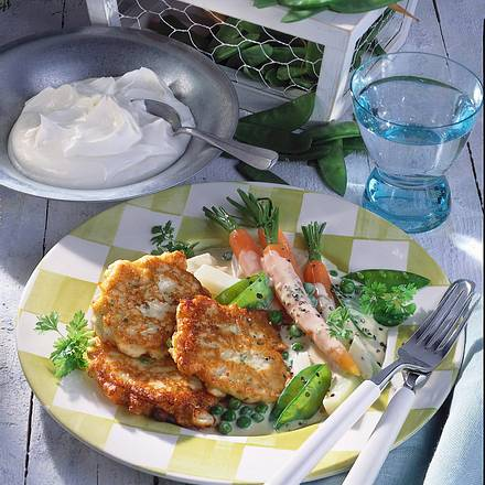 Quarkpuffer mit jungem Gemüse Rezept