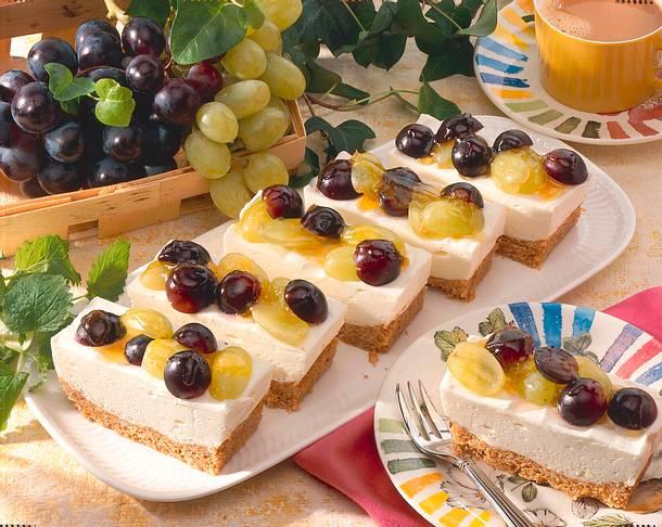 Quarkschnitten mit Weintrauben (Diabetiker) Rezept