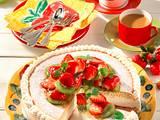 Quarktorte mit Erdbeeren und Kiwi Rezept