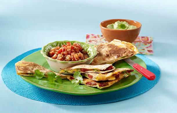 Quesadillas mit Chorizo und Garnelen Rezept