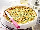 Quiche mit Erbsen, Saubohnen und Minze Rezept