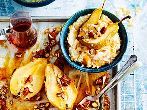 Quinoa-Porridge mit gebackenen Birnen Rezept