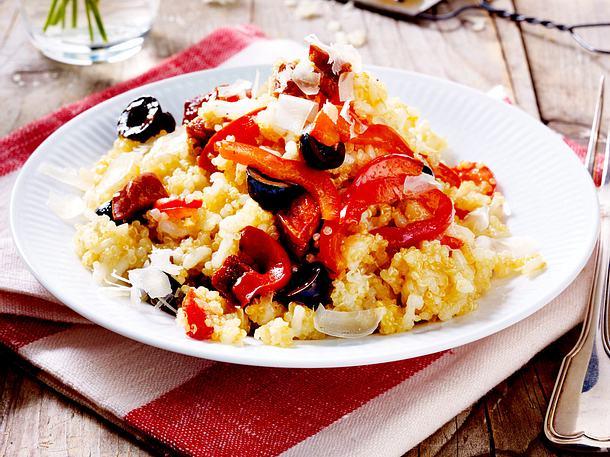 Quinoa-Risotto mit Paprika und Chorizo Rezept