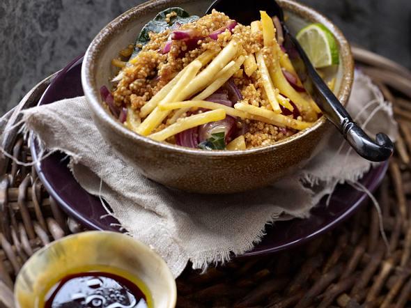 Quinoa-Risotto mit Steckrübe und Limette Rezept