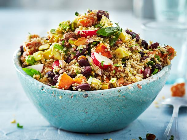 Quinoa-Salatsause trifft Süßkartoffel Rezept