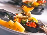 Raclette mit Paprika, Zucchini, Zwiebeln und Schafskäse Rezept