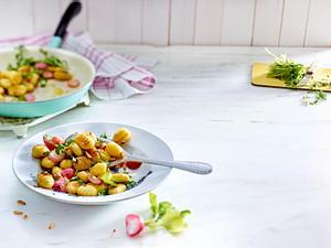 Radieschen-Gnocchi mit Rucola Rezept