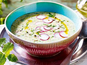 Radieschen-Minz-Suppe Rezept