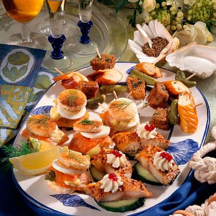 Räucherfisch-Platte Rezept