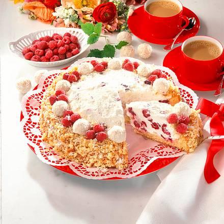 Raffaello-Himbeer-Torte (12 Stücke) Rezept