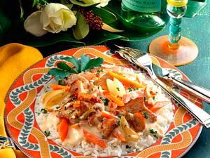 Rahmgeschnetzeltes auf Reis Rezept
