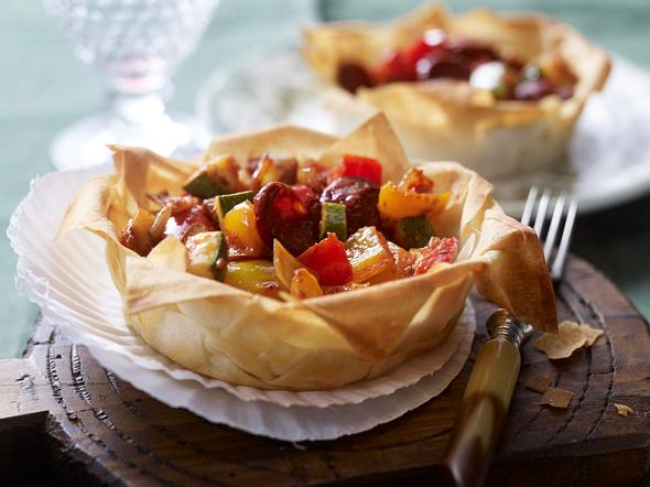 Ratatouille-Chorizo-Tarte Rezept