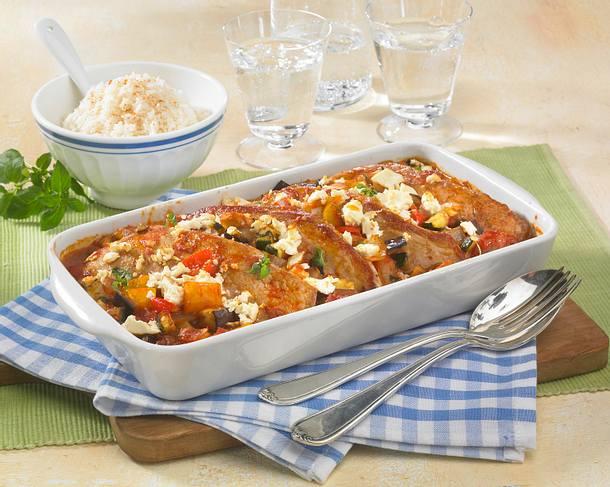 Ratatouille-Schnitzel Rezept