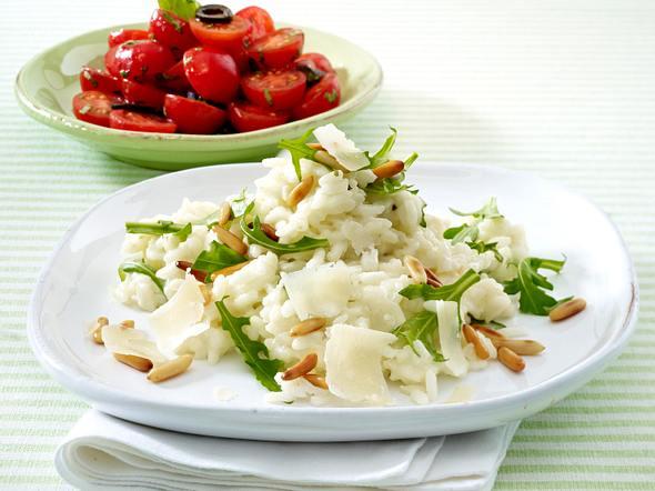 Rauke-Risotto mit Tomatensalat (Trennkost Kohlenhyratgericht) Rezept