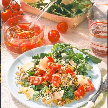 Rauke-Salat mit Käse Rezept
