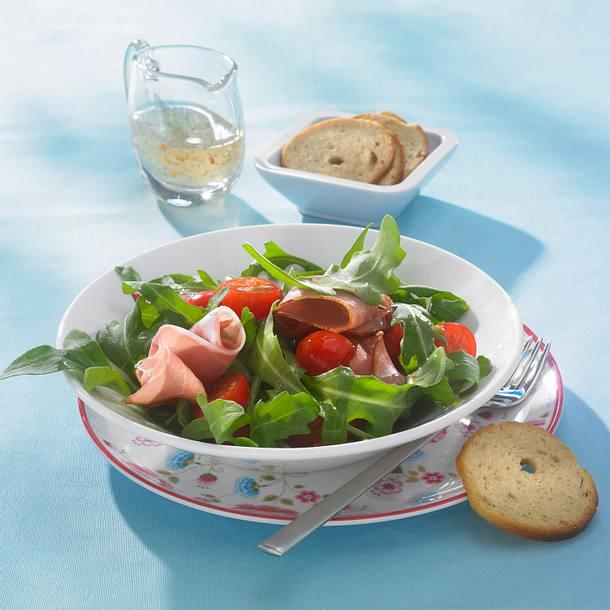 Raukesalat mit Katenschinken (Diät) Rezept