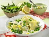 Ravioli in Zitronen-Sahnesoße Rezept