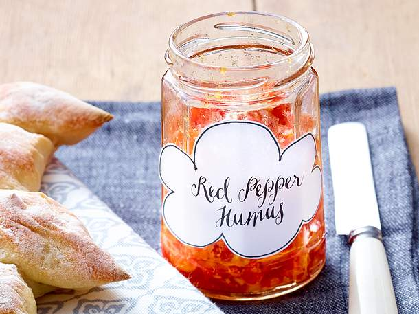 Red Pepper Hummus Rezept