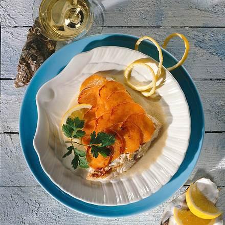 Red-Snapper auf Austerndressing Rezept