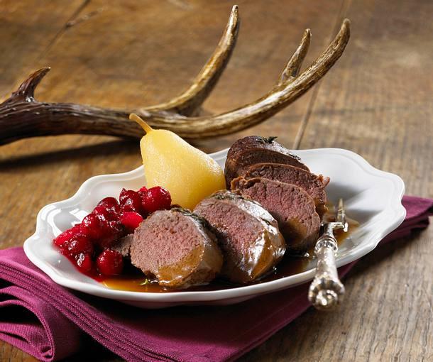 rehfilet mit cranberry chutney rezept chefkoch rezepte auf kochen backen und. Black Bedroom Furniture Sets. Home Design Ideas