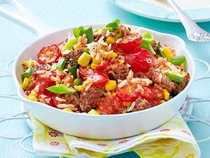 Reis-Beefsteakhack-Pfanne Rezept