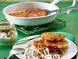 Reis-Erdnuss-Puffer mit Apfel-Radieschen-Dip Rezept