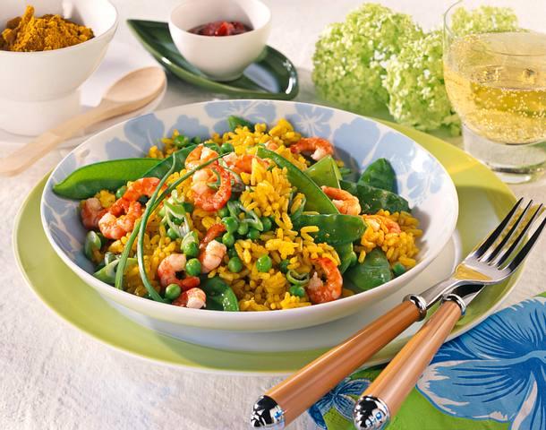 Reis-Krabbenpfanne Rezept