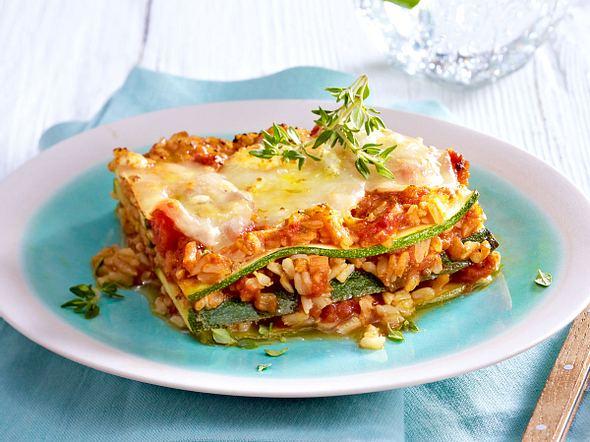 Zucchii-Reis-Lasagne Rezept