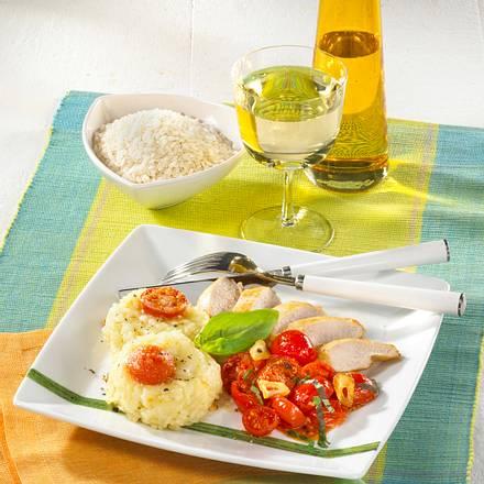 Reis-Medaillons mit Hähnchen Rezept