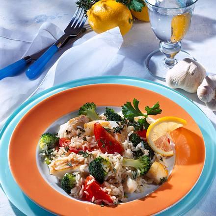 Reis mit Fischwürfeln und Gemüse (Diabetiker) Rezept