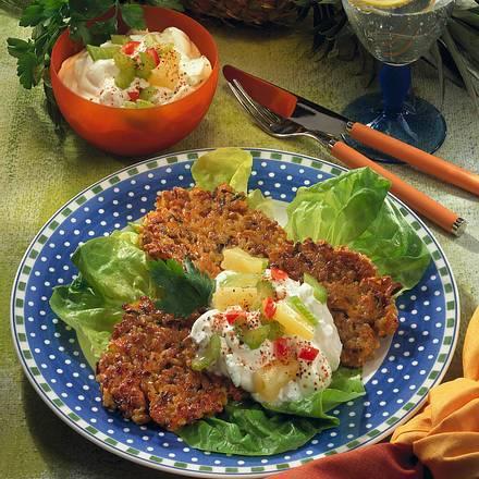 Reis-Puffer zu Quarkdip Rezept