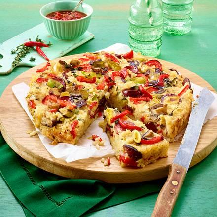 Reis-Quiche mit Pilzen Rezept