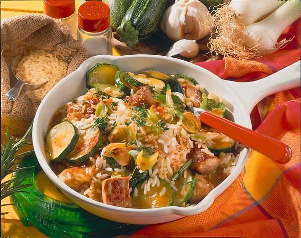 Reis-Schnitzel-Pfanne Rezept