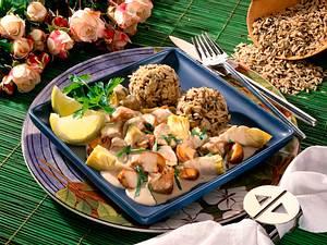 Reiskugeln mit Kalbsgulasch Rezept