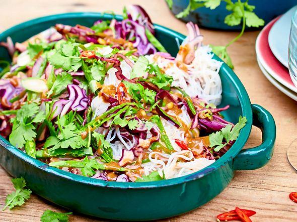 Reisnudel-Salat Rezept