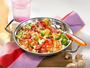 Reispfanne mit Cabanossi (mit Express-Reis) Rezept