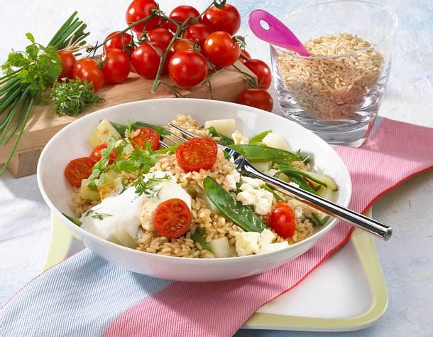 Reispfanne mit Frühlingsgemüse Rezept