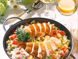 Reispfanne mit Hähnchenfilet Rezept