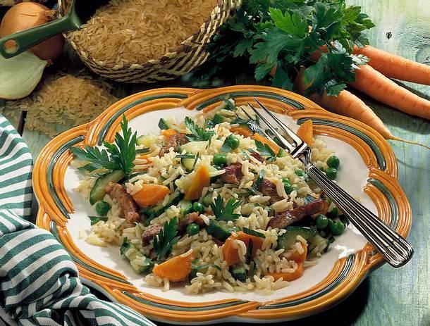 Reispfanne mit Schnitzelfleisch Rezept