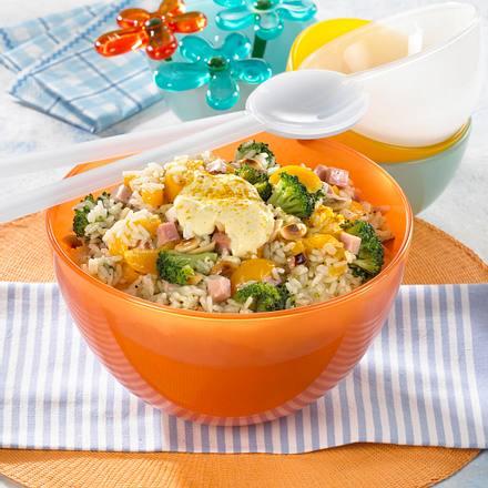 Reissalat mit Broccoli & Schinken Rezept