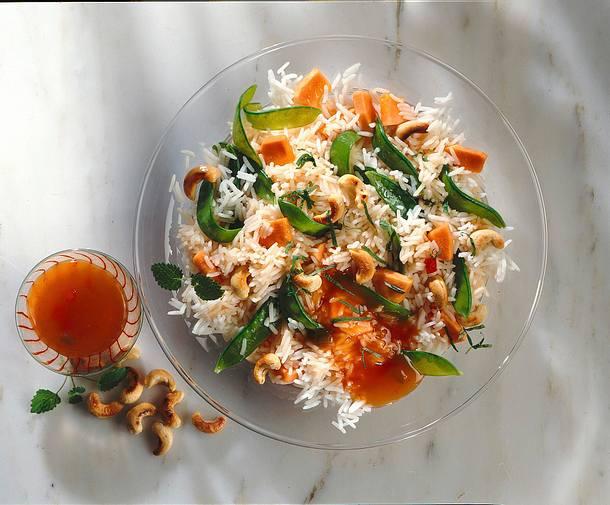 Reissalat mit Papaya Rezept