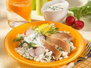Reissalat mit Räucherforelle Rezept