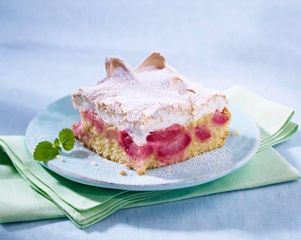 Rhabarber-Baiser-Kuchen Rezept