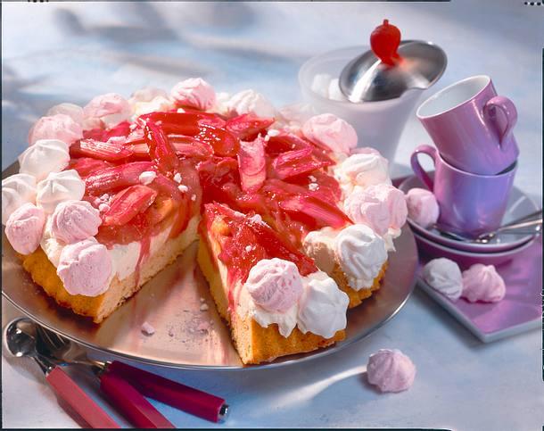 Rhabarber-Marzipan-Kuchen Rezept