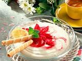 Rhabarber mit Vanillecreme Rezept