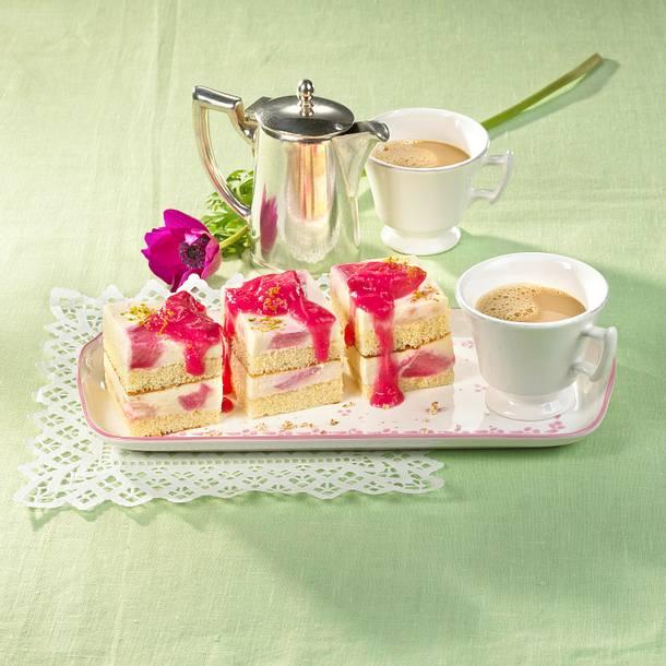 Rhabarber-Tiramisu-Kuchen Rezept