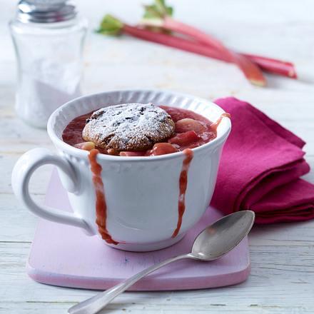 Rhabarber-Töpfchen mit Cookie-Haube Rezept