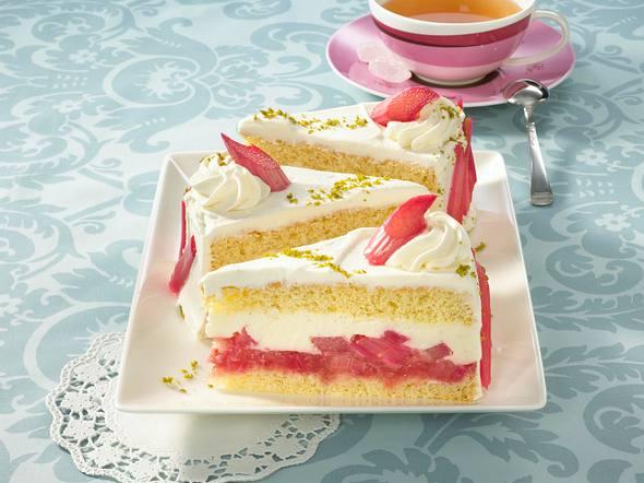 Rhabarber-Torte mit Joghurt-Creme Rezept
