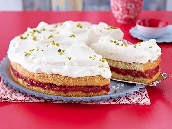 Rhabarber-Vanille-Torte Rezept